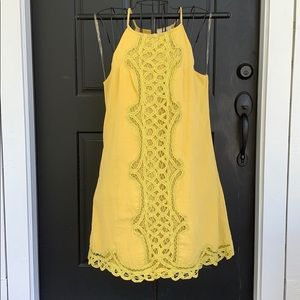 NWT Umgee Lucy Mustard Racerback Boho Shift Dress